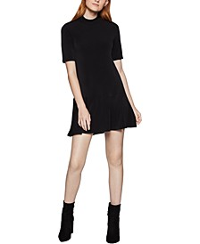 Flounce-Hem Shift Dress