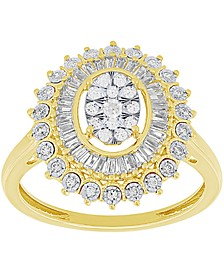 Diamond Oval Ring (1/2 ct. t.w.) in 14k Gold & White Gold