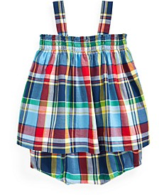 Baby Girls 2-Pc. Cotton Madras Plaid Top & Bloomer Shorts Set