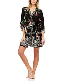 Dillion Printed Crepe Cover-up