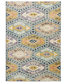 "Arcadia ARC02 Blue 3'10"" x 5'5"" Area Rug"