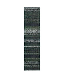"Gypsy GYP06 Green 2'7"" x 10' Runner Rug"