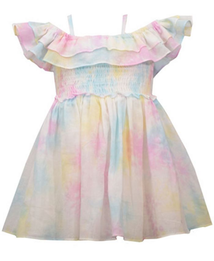 Girls taking off their clothes tif Bonnie Baby Baby Girls Off The Shoulder Pastel Tie Dye Dress Reviews Dresses Kids Macy S