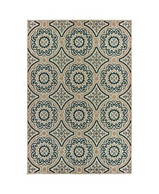 "Scope SCO07 Gray 6'7"" x 9'2"" Area Rug"