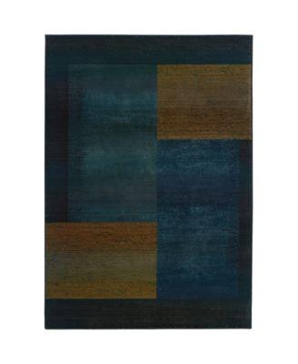 """Kismet KIS010 Blue 5'3"""" x 7'6"""" Area Rug"""