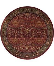 Kismet KIS05 Red 8' Round Rug