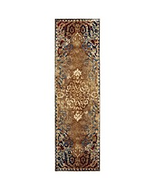 "Gotham GOT01 Gold 2'3"" x 7'6"" Runner Rug"