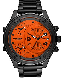 Men's Chronograph Boltdown Gunmetal Stainless Steel Bracelet Watch 56mm