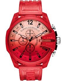 Men's Chronograph MegaChief Red Transparent Polyurethane Strap Watch 51mm