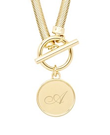 Izzy Toggle Initial Necklace