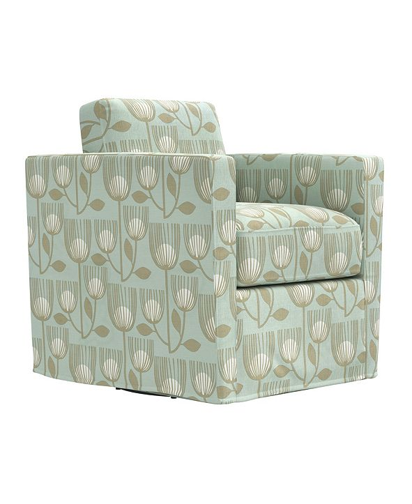 Handy Living Grahm Swivel Club Chair
