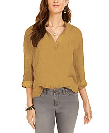 Textured Solid Popover Top, Created for Macy's