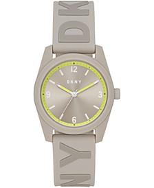 Women's Nolita Gray Silicone Strap Watch 34mm