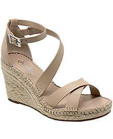 Noteworthy Espadrille Wedge Sandals