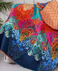 Mackenzie Damask Reversible Quilted Throw