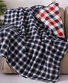 Lodge Plaid Reversible Quilted Throw