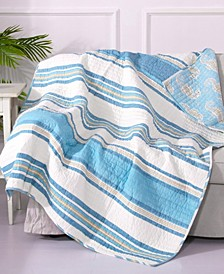 Maui Stripe Reversible Quilted Throw