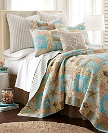 Bridgetown Coastal Print Reversible Full/Queen Quilt Set