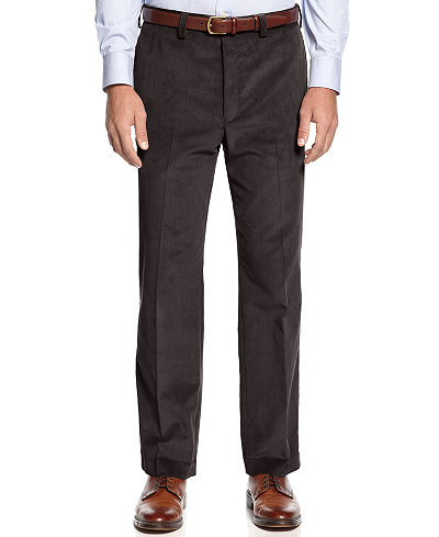 Lauren Ralph Lauren Classic-Fit Flat-Front Corduroy Pants - Pants ...