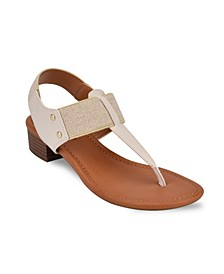 Karly Block Heel Thong Sandal