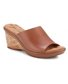 Lynn Slide Wedge Sandal