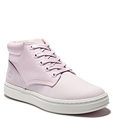 Fabric and Leather Hi-Top Sneaker
