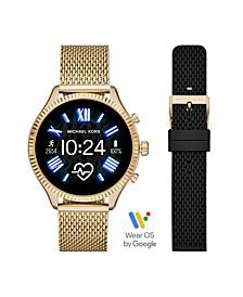 Women's Gen 5 Lexington Gold-Tone with Strap Set Smartwatch 44mm