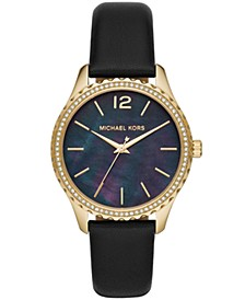 Layton Three-Hand Black Leather Watch
