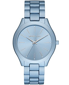 Slim Runway Three-Hand Blue Aluminum Watch
