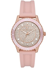 Runway Three-Hand Blush Silicone Watch