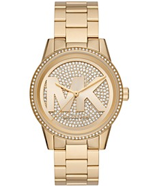 Ritz Three-Hand Gold-Tone Stainless Steel Watch