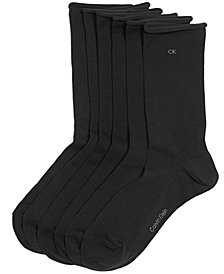 Calvin Klein Women's Casual Roll Top 3 Pack Socks