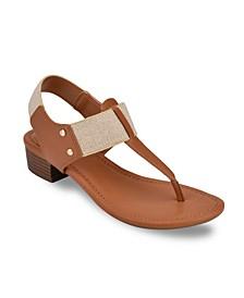Karly Block Heel Thong Sandal
