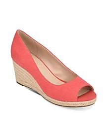 Nuri Peep-Toe Wedge Sandal