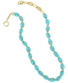 14K Gold-Plated Link Collar Necklace