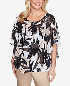 Petite Zanzibar Printed 2-For-1 Necklace Top