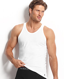 Polo Ralph Lauren Men's Underwear, Slim-Fit Cotton Jersey Tank 3 Pack
