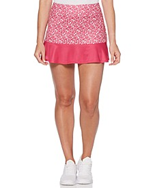 Grand Slam by Colorblocked Floral Ruffled Skort