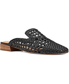 Shanie Woven Slip-On Mules
