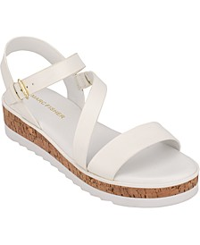 Grandie Treaded Flatform Wedge Sandals
