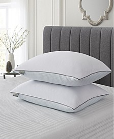Cooling Summer/Winter Goose Feather Pillow Collection, 2 Pack