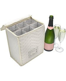 Deluxe Microfiber Champagne Glass Storage Chest