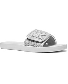 MK Signature Logo Pool Slide Sandals