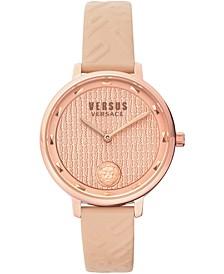 Women's La Villette Light Rose Leather Strap Watch 36mm