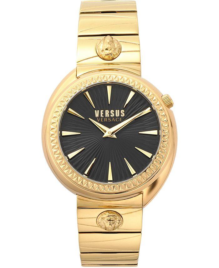 Versus by Versace - Women's Tortona Gold-Tone Stainless Steel Bracelet Watch 38mm