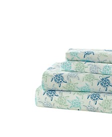 Turtle Road Printed Sheet Set, Queen