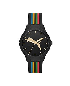 Reset V1 Three-Hand Multicolor Silicone Watch 43mm