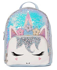 Big Girls Miss Gwen Sequins Mini Backpack with Flower Crown