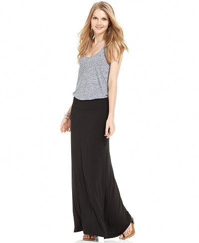 kensie Solid Knit Maxi Skirt - Skirts - Women - Macy's