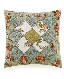 "Olivia Patchwork 16"" x 16"" Decorative Pillow"